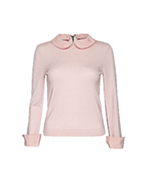 Pink Sweater with Peter Pan Collar